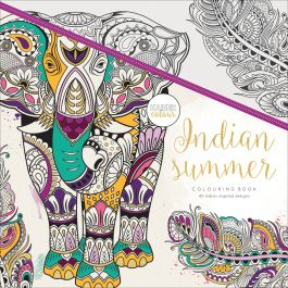 "Kaisercolour Perfect Bound Coloring Book 9.75""X9.75"" Indian Summer - CL514"