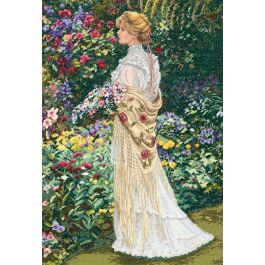 "Dimensions/Gold Collection Counted Cross Stitch Kit 11""X16"" In Her Garden (18 Count) - 35119"