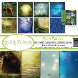 """Reminisce Collection Kit 12""""X12"""" Fairy Forest W/Hollow Tree & Butterflies - FAF200"""