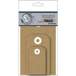 Fundamentals Tags 24/Pkg Kraft Assorted - FNT59