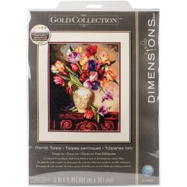 "Dimensions/Gold Collection Counted Cross Stitch Kit 12""X15"" Parrot Tulips (18 Count) - 70-35305"