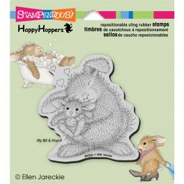 Stampendous Happyhopper Cling Stamp Bunny Luv - HHCQ03
