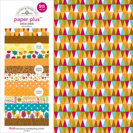 """Doodlebug Paper Plus Value Pack 12""""X12"""" Fall - PPAP-5179"""