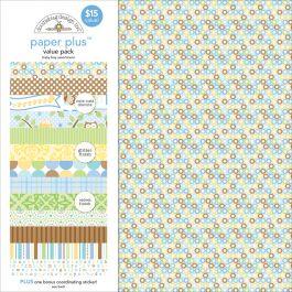 "Doodlebug Paper Plus Value Pack 12""X12"" Baby Boy - PPAP-5183"