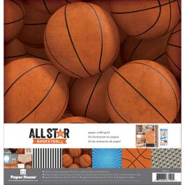 "Paper House Paper Crafting Kit 12""X12"" Basketball - KTSP1032"