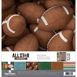 """Paper House Paper Crafting Kit 12""""X12"""" Football - KTSP1034"""