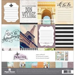"Paper House Paper Crafting Kit 12""X12"" France - KTSP1037"