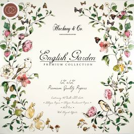 "Craft Consortium Double Sided Paper Pad 12""X12"" 40/Pkg English Garden - PAD003"