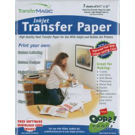 "Transfer Magic Ink Jet Transfer Paper 8.5""X11"" 7/Pkg  - FXINK-7"