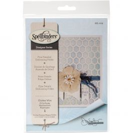 Spellbinders Embossing Folder Large Chicken Wire - SEL009