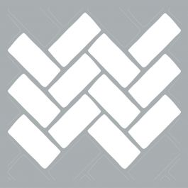 "Americana Decor Stencil 18""X18"" Brick Herringbone - ADS40-406-K"