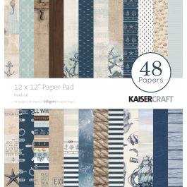 "Kaisercraft Paper Pad 12""X12"" 48/Pkg Nautical - PP237"