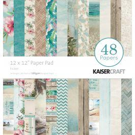 """Kaisercraft Paper Pad 12""""X12"""" 48/Pkg Escape - PP241"""