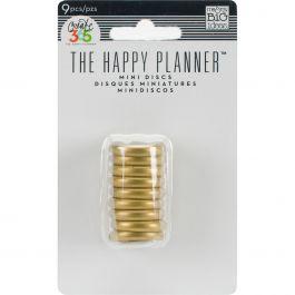 "Happy Planner Discs 1.25"" 9/Pkg Gold .75"" - RINS-01"