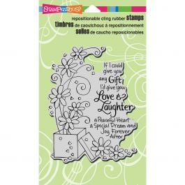 Stampendous Cling Stamp Laughter Gift - CRR258