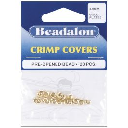 Gold Plated Crimp Covers 4Mm 20/Pkg - 349A-010