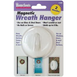 "Magnetic Wreath Hanger 2.5"" White - F-901"