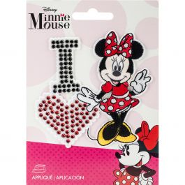 Wrights Disney Mickey Mouse Iron On Applique I Love Minnie - 193 1600