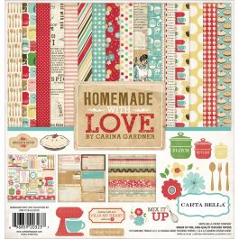 "Carta Bella Collection Kit 12""X12"" Homemade With Love - HL23016"