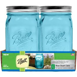 Ball(R) Wide Mouth Canning Jars 4/Pkg Quart Elite Color Series Blue, 32Oz - 69024