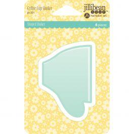 Jillibean Soup Pvc Card Shakers 6/Pkg Coffee Cup - JBSHAKE-1321