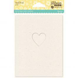 "Jillibean Soup Shaker Cards W/Envelopes 5.5""X4.25"" 6/Pkg Small Heart - JBCARD-1322"