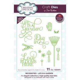 Creative Expressions Craft Dies By Sue Wilson Necessities Life Is A Garden - CED23016