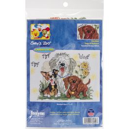 """Janlynn/Suzy'S Zoo Mini Counted Cross Stitch Kit 7""""X5"""" Dogs Of Duckport (14 Count) - 38-0204"""