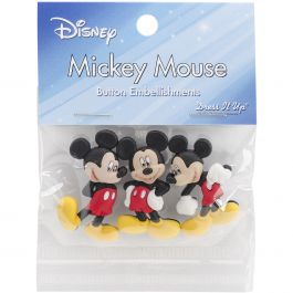 Dress It Up Licensed Embellishments Disney Mickey Mouse - DIULBTN-7716