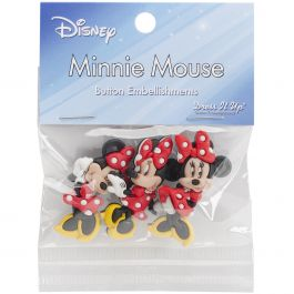 Dress It Up Licensed Embellishments Disney Minnie Mouse - DIULBTN-7717