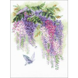 "Riolis Counted Cross Stitch Kit 11.75""X15.75"" Wisteria (14 Count) - R1672"
