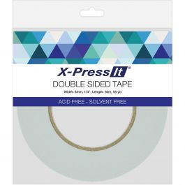 "X Press It Double Sided Tape 6Mm .25""X55Yd - DST6"
