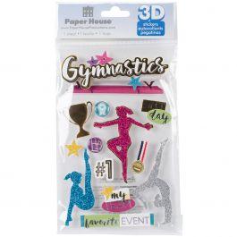 """Paper House 3D Stickers 4.5""""X7.5"""" Gymnastics - STDM282E"""