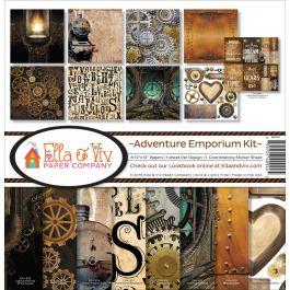 "Ella & Viv Collection Kit 12""X12"" Adventure Emporium - EAV924"