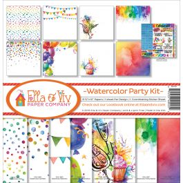 "Ella & Viv Collection Kit 12""X12"" Watercolor Party - EAV925"
