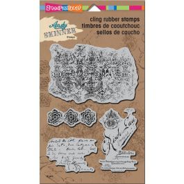 Stampendous Andy Skinner Cling Stamps Textures - ASCRS12