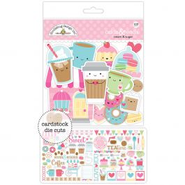 Doodlebug Odds & Ends Die Cuts 103/Pkg Cream & Sugar - CAS5484