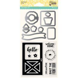 Jillibean Soup Shaker Clear Stamps & Die Set Barn Door - JB1560