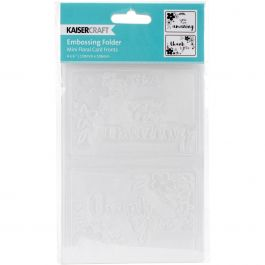 "Kaisercraft Embossing Folder 4""X6"" Mini Floral Card Fronts - EF261"