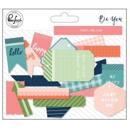 Pinkfresh Fabric Die Cuts 19/Pkg Be You - PFBY918