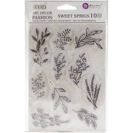 """Iron Orchid Designs Decor Clear Stamps 5""""X7"""" Sweet Sprigs - 816544"""