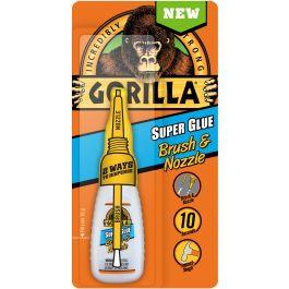 Gorilla Super Glue W/Brush & Nozzel .35Oz - 7500101