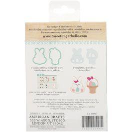 Sweet Sugarbelle Cookie Cutter Kit 5Pcs Bunny & Basket - SB341997