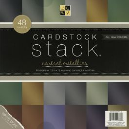 "Dcwv Single Sided Cardstock Stack 12""X12"" 48/Pkg Metallic, 12 Colors/4 Each - PS005016"