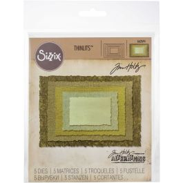 Sizzix Thinlits Dies By Tim Holtz Stacked Deckle - 662694