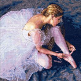 "Dimensions/Gold Collection Counted Cross Stitch Kit 14""X14"" Ballerina Beauty (18 Count) - 35181"