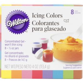 Icing Colors .5Oz 8/Pkg Assorted Colors - W6015577