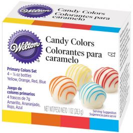 Candy Colors .25Oz 4/Pkg Yellow, Orange, Red & Blue - W1913-1299