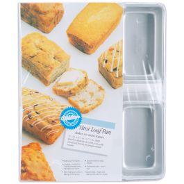"""Mini Loaf Pan 6 Cavity 4.5""""X2.5""""X1.5"""" - W9791"""