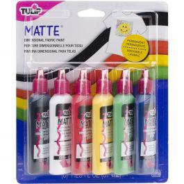 Tulip Dimensional Fabric Paints 1.25Oz 6/Pkg Matte - SK-15553